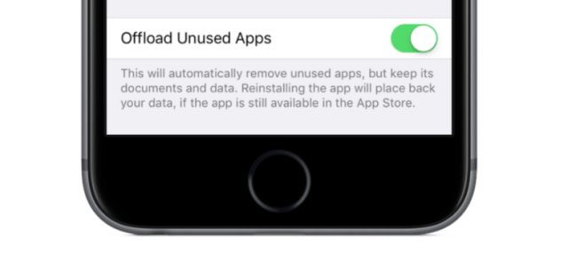 offload unused app ios11