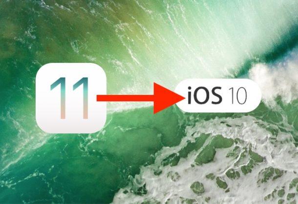 downgrade to ios 11