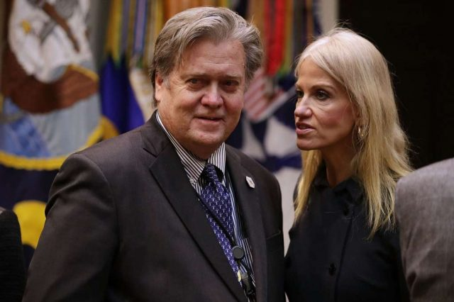 steve bannon and kelly anne conway