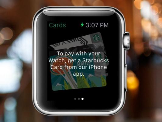 starbucks apple watch