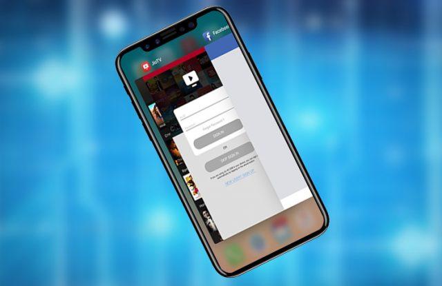 iphone x force quit app