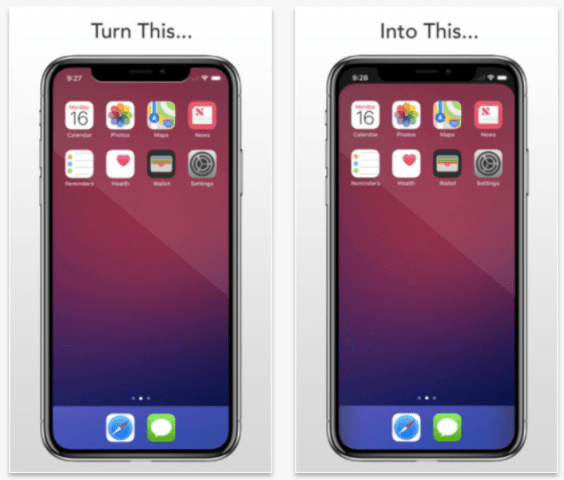Now You Can Hide The Iphone X S Notch Using A Custom Wallpaper