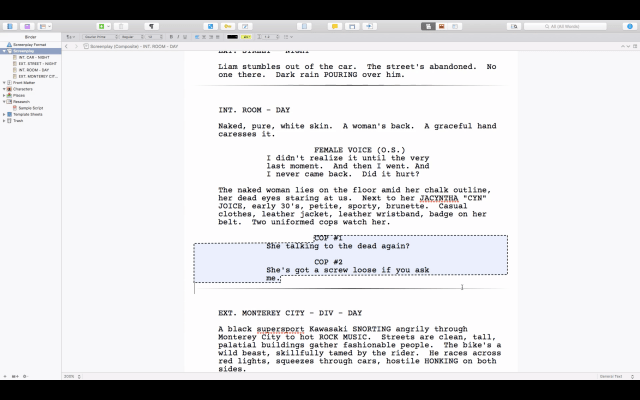 scrivener screenplay