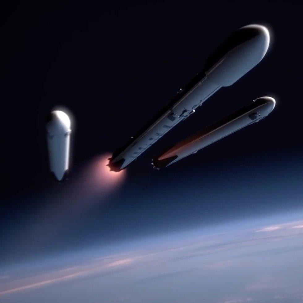 space x heavy falcon
