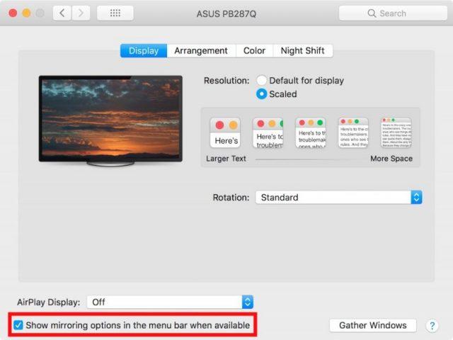 mac menu bar items