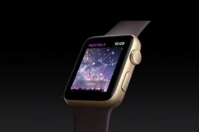 night sky apple watch