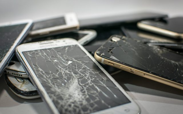 broken cell phones