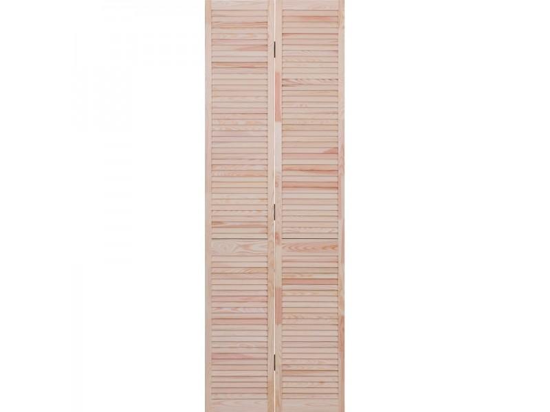 Porte De Placard Pliante Persiennee H205xl61cm Pas Cher Achat Vente En Ligne