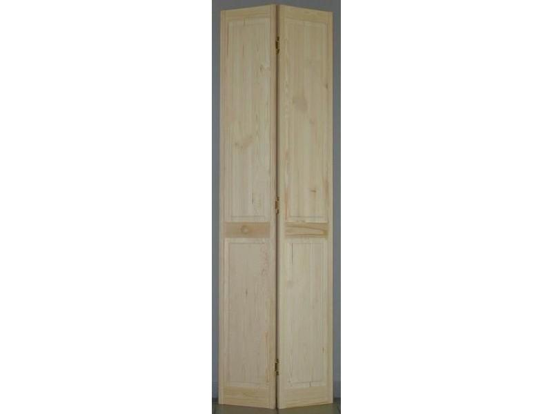 porte de placard pliante pleine pin h205xl71cm