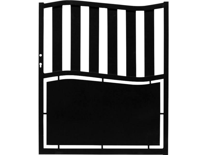 portillon noir en aluminium modele ardeche h120 x l100 cm