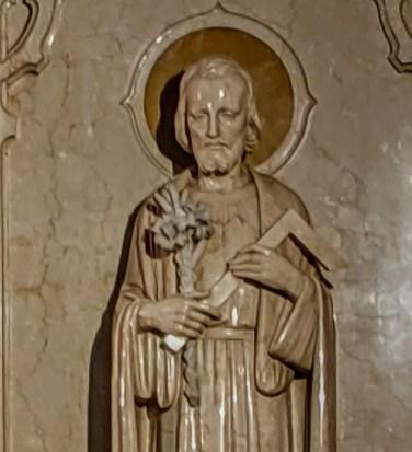 St Joseph: in church