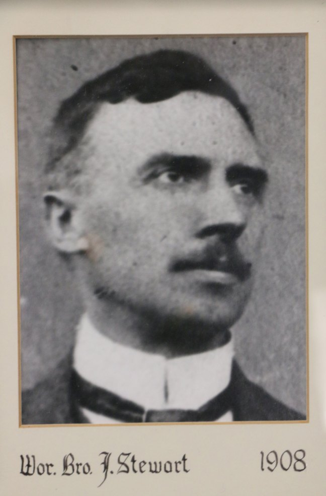 John Stewart, Worshipful Master of St. John's Lodge No. 21 in 1908 (photo: St. John's Lodge No. 21)