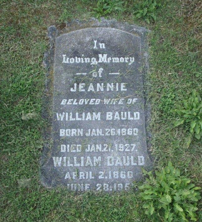 William Bauld, grave, Ladysmith Cemetery (photo: St. John's Lodge No. 21 Historian)