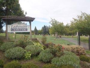 Ladysmith Cemetery entrance (photo: St. John's Lodge No. 21 Historian)
