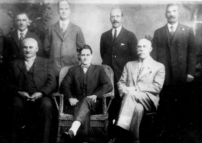 Ladysmith Council, 1928. St. John's Lodge No. 21 member David Davidson (standing, right) [photo: Ladysmith & District Historical Society]