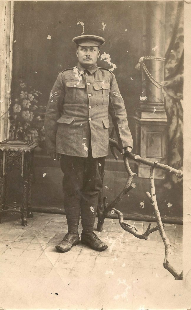 Corporal Donald McLean in Canadian military uniform, circa1916 (photo courtesy of Shannon Nadasdy)