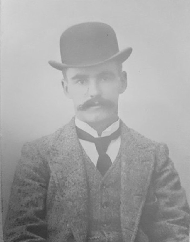 Andrew John McMurtrie in Wellington, circa 1890 (photo courtesy of Greg Bertrand - used with permission)