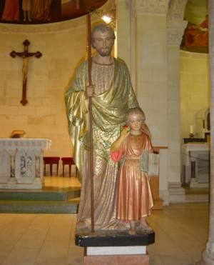 Statue de Saint Joseph, Eglise de Nazareth, Terre Sainte.