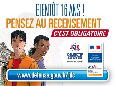 Recensement: Journée-Défense-Citoyenneté