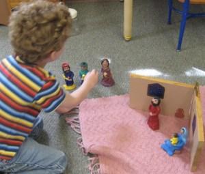 child with magi work
