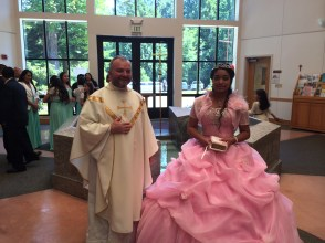 Mayra with Fr. Michael Wagner