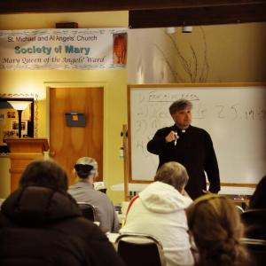 Fr. Kerr speaking at the Society of Mary's 2013 Advent Quiet Day