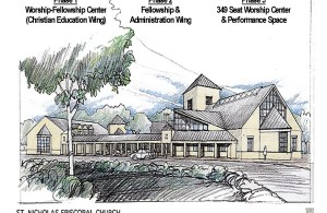 SNEC Renderings - Dtown Road View - w Building Phases
