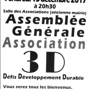 Assemblée générale – Association 3D
