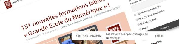 Label GRANDE ECOLE du NUMERIQUE