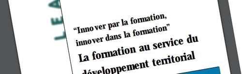 """""""La formation au service du développement territorial"""""""