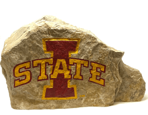 Iowa State Logo Engraved Stone