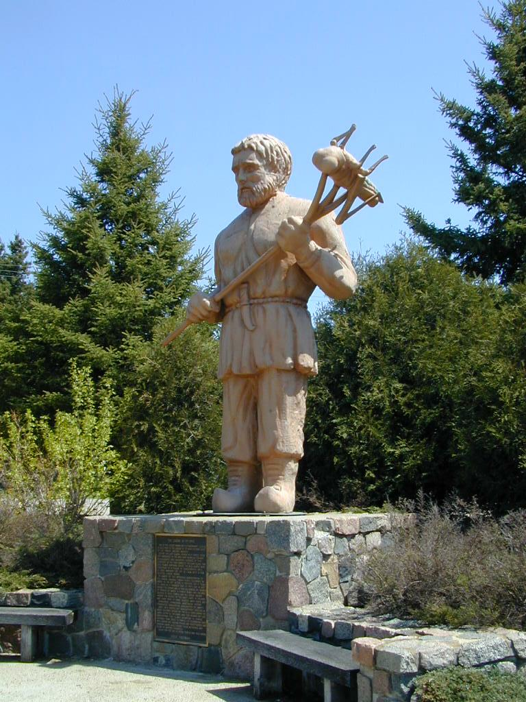 St. Urho statue in Minnesota