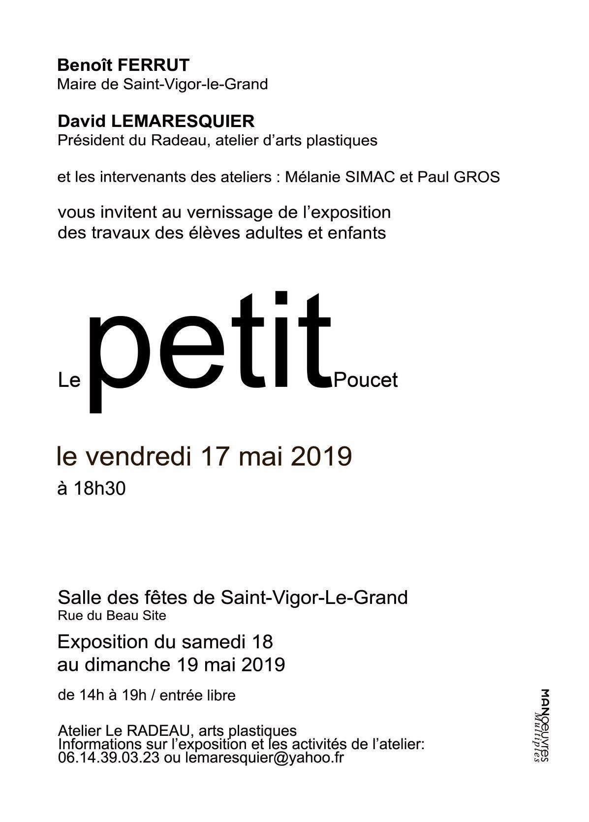 EXPO LE RADEAU carton verso 2019