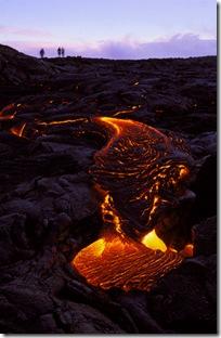 Larva vulcão