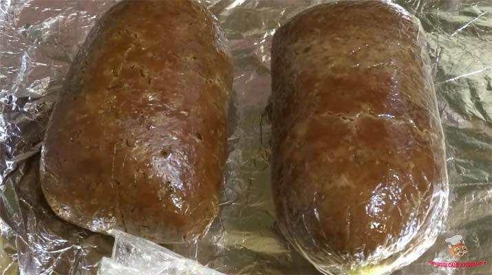 дома Рецепт печенчной колбасы