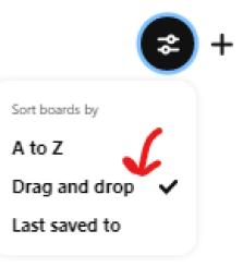 Drag and drop option