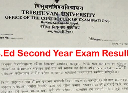 B.Ed Second Year Results