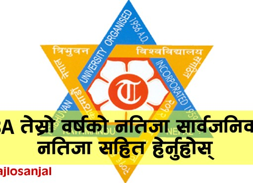 3 Years BA Third Year 2076 Result Published Tribhuvan University Office of the Controller of Examination, Balkhu published the examination result of 3 Years BA Third Year 2076.