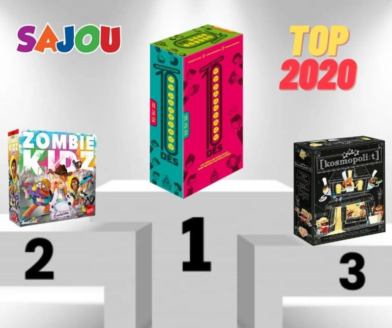 Les meilleures ventes de jeux de société chez Sajou en 2020