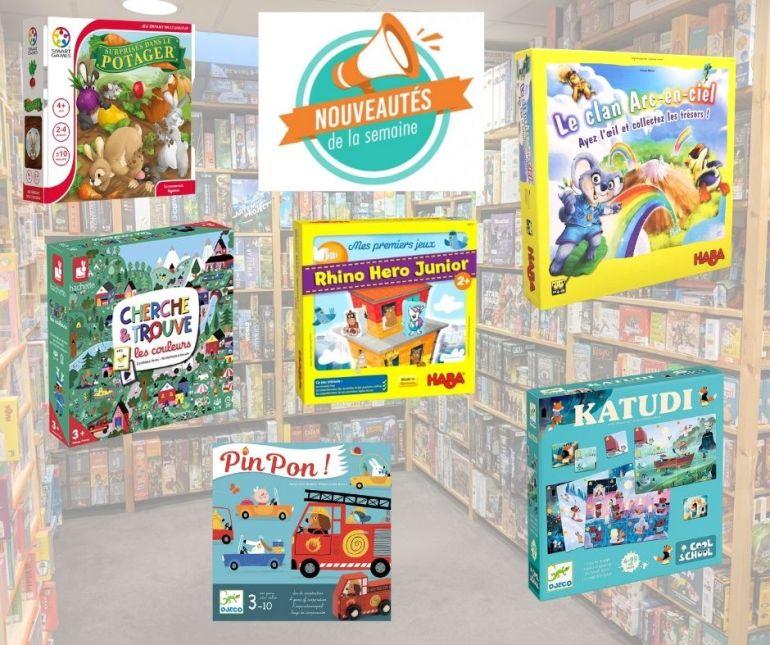 Nouveaux jeux pour jeunes enfants arrivés chez Sajou au 11/10/2021