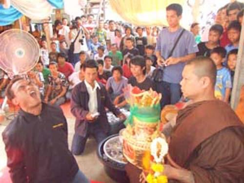 Pra Ajarn Hlek Dam Wai Kroo Ceremony at Wat Nern Pattana