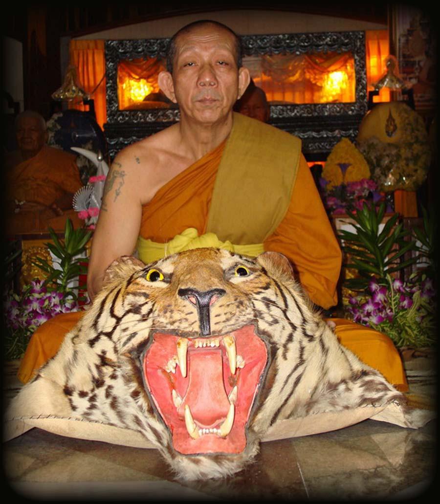 Luang Por Sam Ang is the current Abbot of Wat Bang Pra.