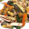 三大苦キノコの饗宴(クロカワ、サクラシメジ、ウラベニホテイシメジの中華炒め)
