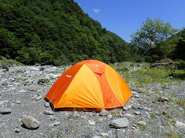 160807三峰川テント風景