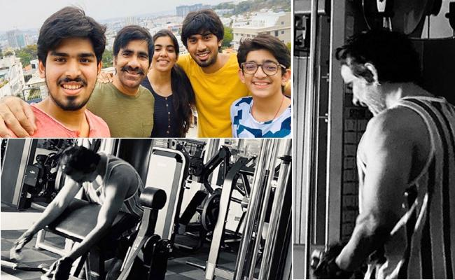 Ravi Teja Spends His Quality Time With family During Lockdown - Sakshi