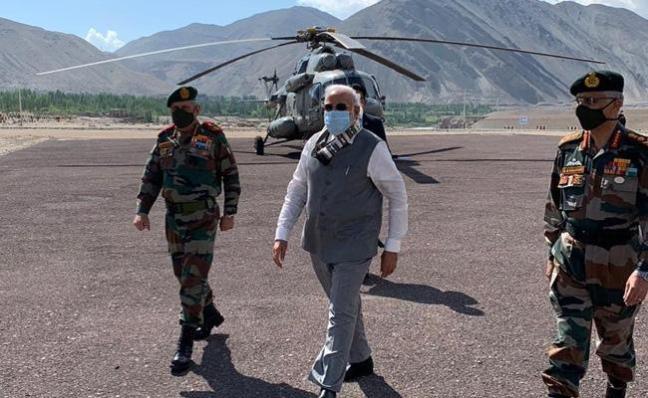 PM Narendra Modi Visit Ladakh - Sakshi