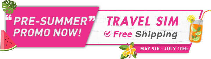 PRE-SUMMER PROMO NOW! TRAVEL SIM Free Shipping.