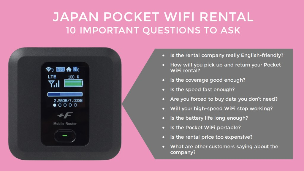 Japan Pocket WiFi Rental: 10 Important Questions to Ask