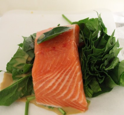 Simple salmon parcels
