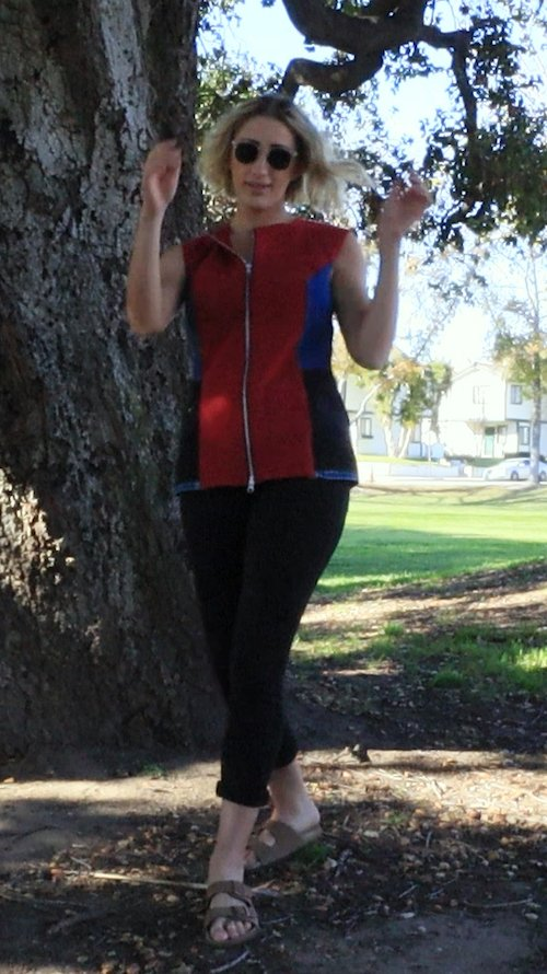 The Girl In The Red Vest